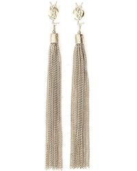 Saint Laurent - Loulou Tassel Earrings - Lyst