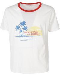 Saint Laurent - Waiting For Sunset Printed T-shirt - Lyst
