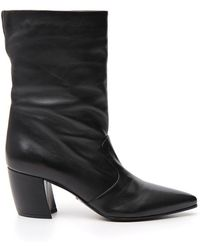Prada - Pointed Toe Boots - Lyst
