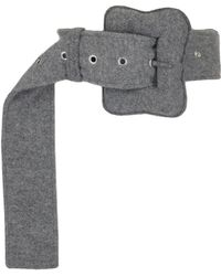 Céline - Textured Wool Belt - Lyst
