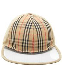 Burberry - Checked Baseball Cap - Lyst