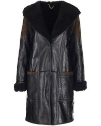 Golden Goose Deluxe Brand - Oversized Hooded Shearling Coat - Lyst
