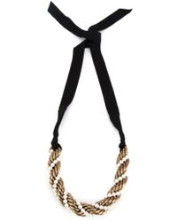 Lanvin - Twisted Contrast Necklace - Lyst