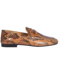 Isabel Marant Fezzy Stamped Penny Loafers - Brown