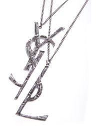 Saint Laurent - Monogram Necklace - Lyst