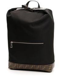 e2853d9ddaff Fendi - Monogram Stripe Backpack - Lyst