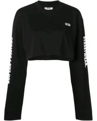 Gcds - Relaxed Fit Cropped Sweater - Lyst