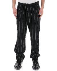 Haider Ackermann - Belted Stripe Pants - Lyst