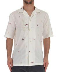 Ferragamo - Seahorse Embroidered Shirt - Lyst