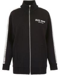 Miu Miu - Sequinned Track Jacket - Lyst