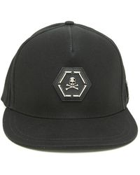 Philipp Plein Jordan Skull Cotton Strapback Cap in Black for Men - Lyst 8b34d6cd678