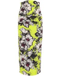 Miu Miu - Floral Cloqué Skirt - Lyst