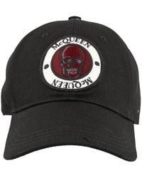 Alexander McQueen Logo Patch Baseball Cap - Black
