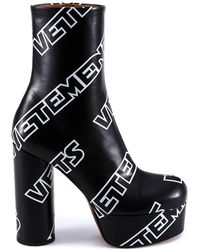 Vetements - Printed Platform Ankle Boots - Lyst