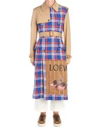 Loewe - Contrast Material Trench Coat - Lyst