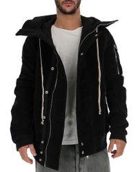 Rick Owens Drkshdw - Hooded Loose Fit Jacket - Lyst