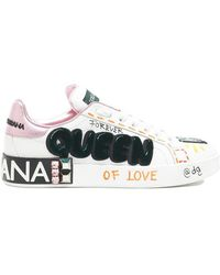Dolce & Gabbana - Queen Appliqué Sneakers - Lyst