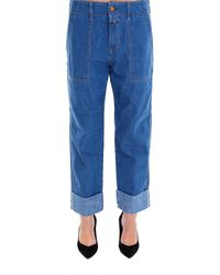 Closed - Cropped Cuff Jeans - Lyst