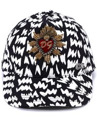 Dolce & Gabbana - Sacred Heart Patch Cap - Lyst