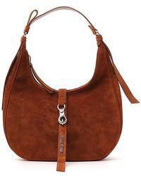 Miu Miu - Suede Circle Shoulder Bag - Lyst