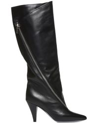59bd1173320 Lyst - Burberry Prorsum Leather Thigh-high Boots in Black