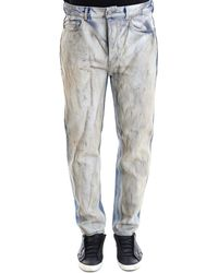 Golden Goose Deluxe Brand - Distressed Colour Block Jeans - Lyst