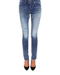 Saint Laurent - High-rise Skinny Jeans - Lyst