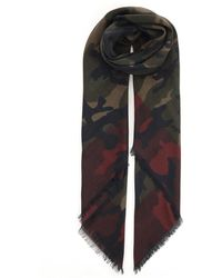 Valentino - Camouflage Scarf - Lyst