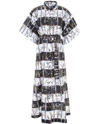 KENZO - Cotton Linen Memento Dress - Lyst