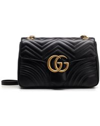 bbf7a15e3753 Gucci Gg Marmont 2.0 Imitation Pearl Logo Matelasse Leather Shoulder ...