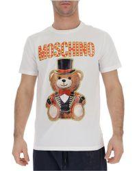 cabb9282 Moschino Biker Teddy T-shirt White in White for Men - Lyst