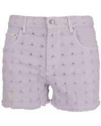 Étoile Isabel Marant - Perforated Denim Shorts - Lyst