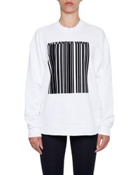 Alexander Wang - Oversized Cotton Sweatshirt - Lyst