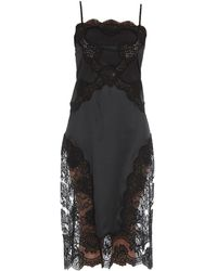 Dolce & Gabbana - Lace Detail Slip Dress - Lyst