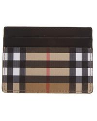 Burberry Vintage Check Leather Card Holder