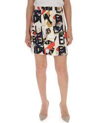 Burberry - Graffiti Print Skirt - Lyst