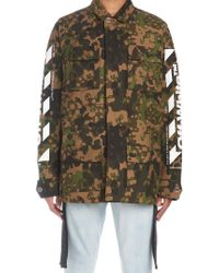 9b9054598f19 Lyst - Off-White c o Virgil Abloh Embroidered Camouflage Field ...