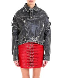 Manokhi - Oversized Leather Jacket - Lyst