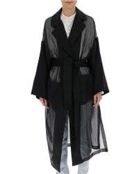 Loewe Sheer Panelled Tie-front Coat