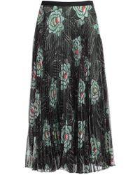 Dries Van Noten - Floral Pleated Skirt - Lyst