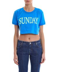 Alberta Ferretti - Rainbow Week Sunday Crop Top - Lyst