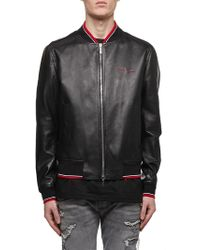 0e33e5bf740 Dior Homme Late Night Summer Paris Shell And Leather Jacket in Red ...