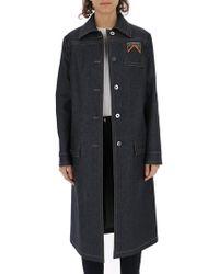 Prada - Denim Longline Coat - Lyst