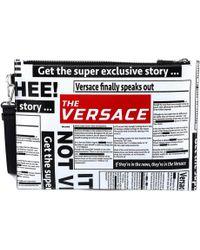 Versace - Newspaper Print Clutch Bag - Lyst