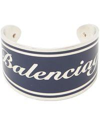 Balenciaga - Logo Cuff Bracelet - Lyst