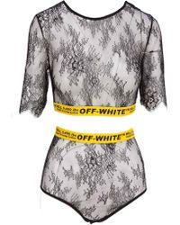 Off-White c/o Virgil Abloh - Lace Two Piece Set - Lyst