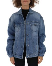 Amen - Angle Graphic Denim Jacket - Lyst