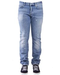 Dior Homme Distressed Look Jeans - Blue