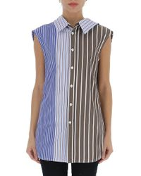 Marni - Striped Sleeveless Blouse - Lyst