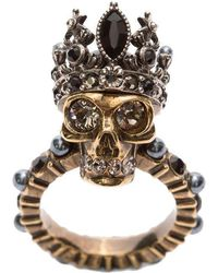 Alexander McQueen - Queen Skull Ring - Lyst